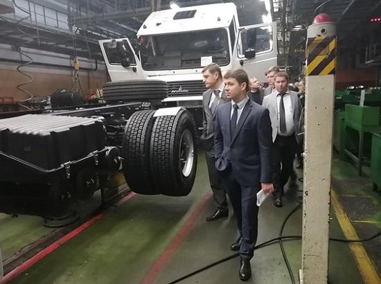 МАЗ посетида делегация из Свердловска