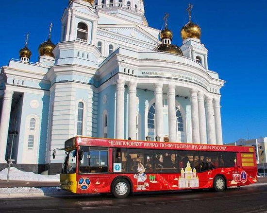 автобусы МАЗ к чемпионату по футболу 2018
